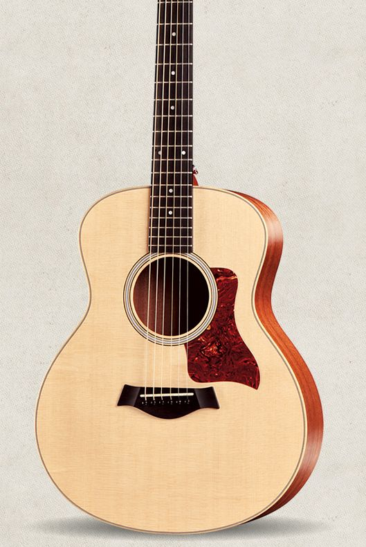 """GS Mini by taylorguitars :A scaled-down GS that's anything but small. Body Width: 14 3/8"""" / Body Depth: 4 7/16"""" / Body Length: 17 5/8"""" #Guitar #GS_Mini"""