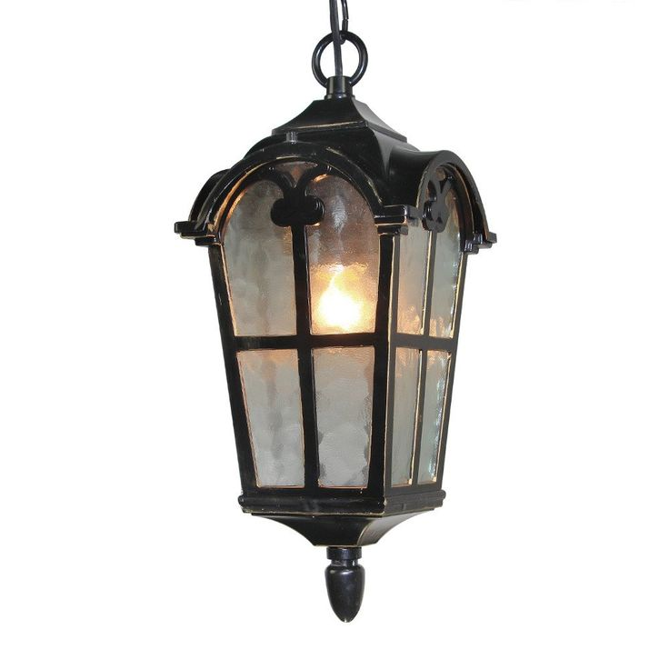 Lnc industrial outdoor aluminum pendant light exterior hanging lantern lamp