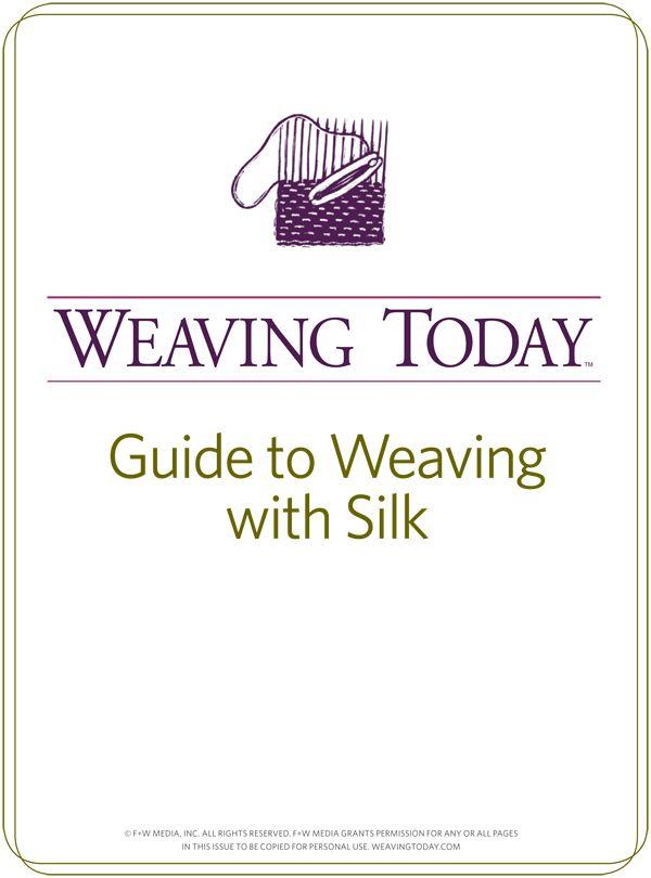 Deze gids zijde garen voor het weven van projecten is essentieel als je wilt zijden draad te weven.