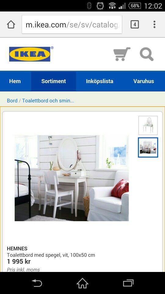 Snyggt sminkbord från Ikea