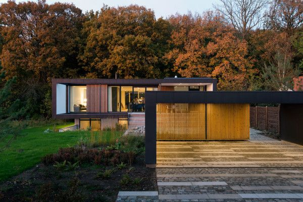 Villa in Denmark located on the edge of a forest. Architects: CF Møller. Spotted by @missdesignsays via @designmilk