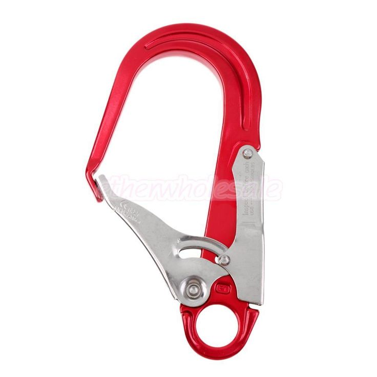 Safety Rope Snap Spring Locking Hook Clip for Climbing Rigging Rappel Rescue