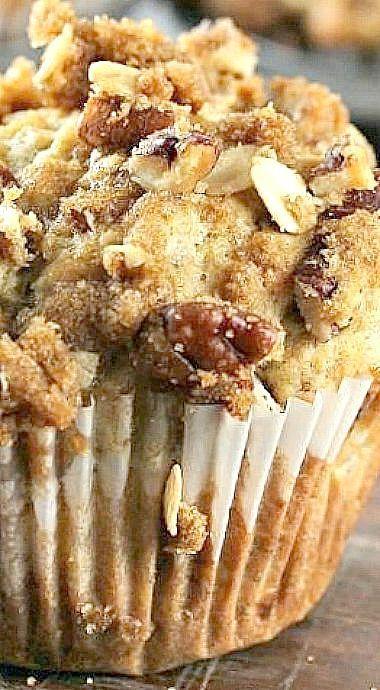 Banana Pecan Crunch Muffins ❊