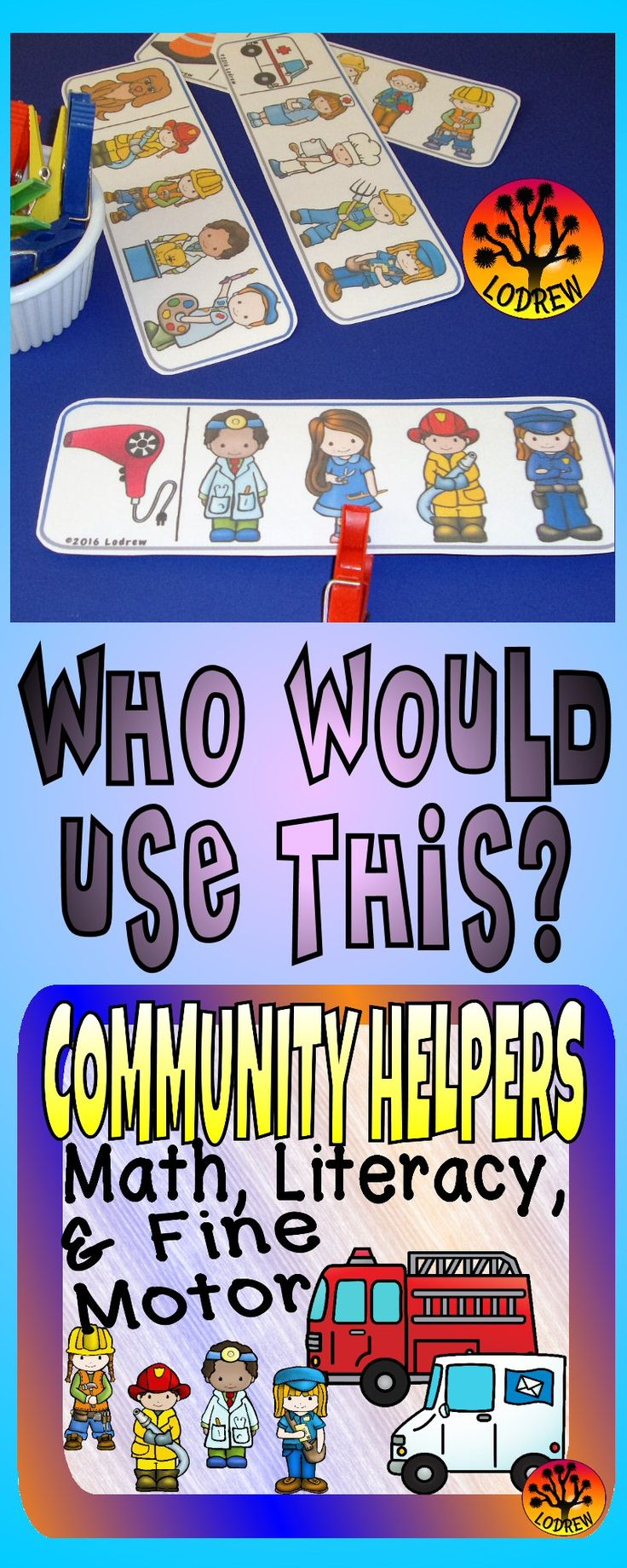 Bilingual dolphin counting card 6 clipart etc - 195 Pages Of Community Helpers Centers Activities Include Letter Matching Question And Answer