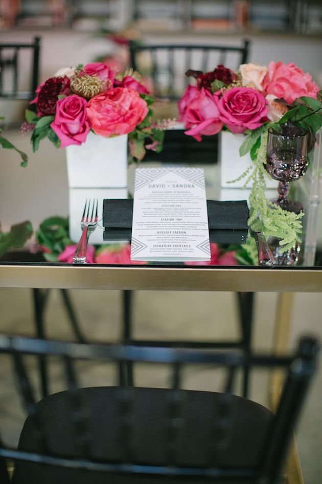 Black, White, Pink and Sparkle   Real Wedding   Aaron Young Photography   A Good Affair Wedding and Event Production   Bridal Musings Wedding Blog