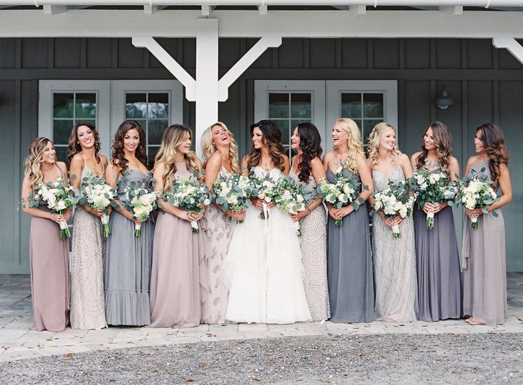 Photography: Lauren Peele - www.laurenpeelephotography.com Wedding Dress: Hayley Paige  - www.jlmcouture.com/Hayley-Paige Bridesmaids' Dresses: Stardust Celebrations - stardustcelebrations.com   Read More on SMP: http://www.stylemepretty.com/2015/07/13/rustic-elegant-jacksonville-wedding/