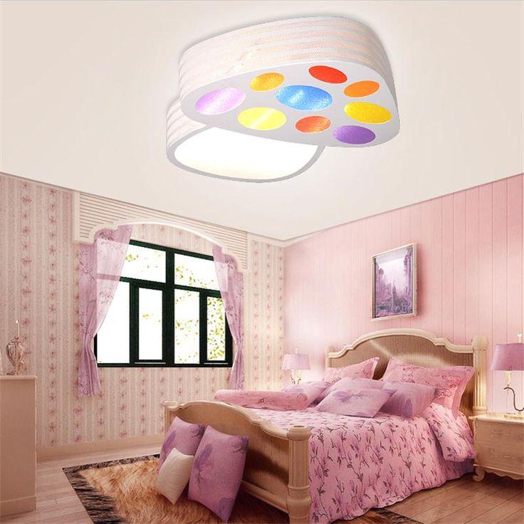 LED Kids Ceiling Lamp Plafon Lamparas de Techo Children Bedroom Cartoon Mushroom Ceiling Lights Dimmer Iluminacion Controller * Visit the image link more details.