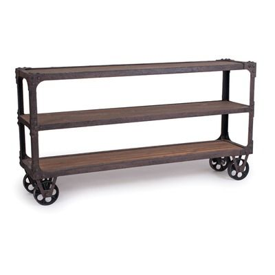 New Rustics Home Rustic Industrial Sofa Table