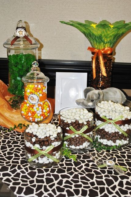 """Photo 1 of 12: Animal/Jungle / Baby Shower/Sip & See """"Everything Sweet in the Jungle!"""" 