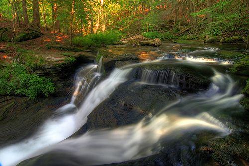 Waterfall 167 1/2 Catskill mts NY