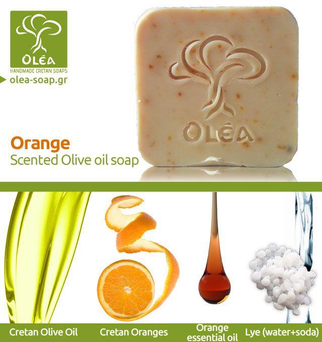 Handmade olive oil soap with orange Ελαιολαδο με Πορτοκάλι