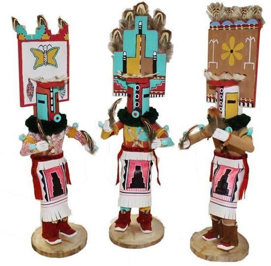"Navajo Kachina Headdress Doll 12""- Native American Indian Dolls For Sale $57.50 @ Foutztrade.com #NativeAmericanArts  Authentic Native american Design Doll  #NavajoCulture #NativeAmerican #KachinaDolls #Handmade #IndianArts #VintageArts #Authentic #NativeAmericanDesign #SouthwesternArts #Navajomade #Arts #Crafts"