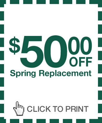 Garage Door Spring Repair, Torsion Spring Replacement & Installation