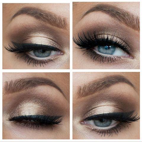 Pretty eye make up!  Linda Hallberg  Like us on Facebook www.Facebook.com/Forever.n.Always.Weddings