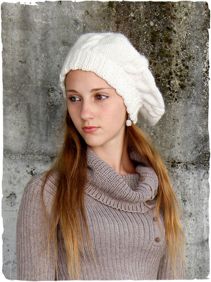 very soft alpaca wool beret worked with plaits. #Alpacahats #hats