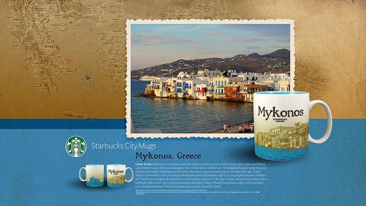 Starbucks City Mug Mykonos Desktop Wallpaper