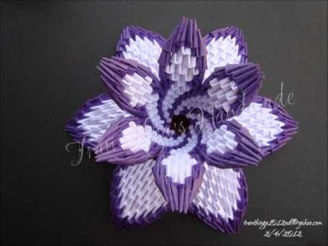 How to: 3D origami flower vase