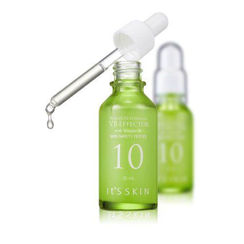 IT'S SKIN POWER 10 FORMULA VB EFFECTOR 30ML. Le sérum VB effector réduit la production de sébum et hydrate votre peau.  Riche en vitamine B6, il équilibre les peaux grasses efficacement.