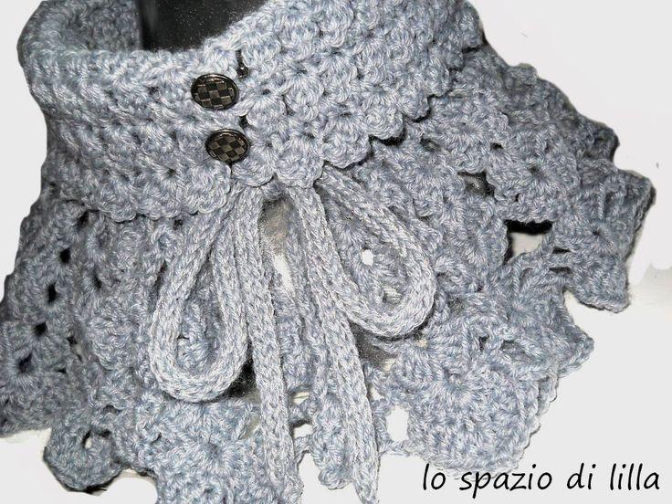 lo spazio di lilla: Collo e cappello all'uncinetto per l'inverno: SmoKeyGraY