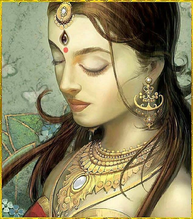 Goddess Parvati - a well known goddess in the Hindu mythology. Description from pinterest.com. I searched for this on bing.com/images