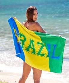 Brazil håndkle