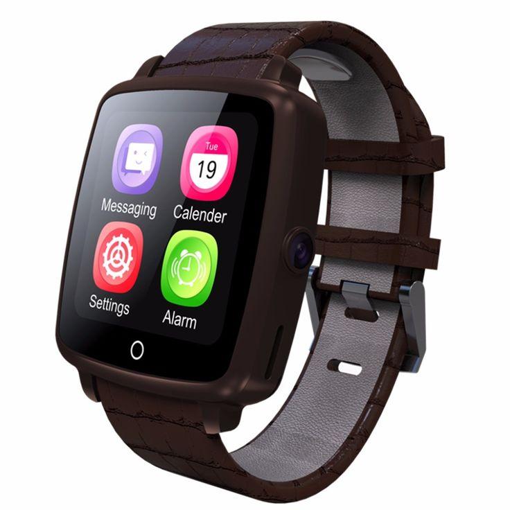 Bluetooth Mit Kamera SmartWatch Lederband Intelligente Uhr Unterstützung Micro Sim-karte Bluetooth Konnektivität für Apple Android Telefon //Price: $US $70.50 & FREE Shipping //     #meinesmartuhrende