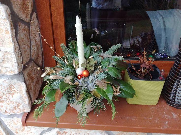 2016 Vianočný s bielou sviečkou