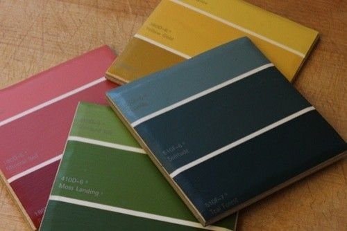 Been wanting to make tile coasters, using paint chips would be so great!