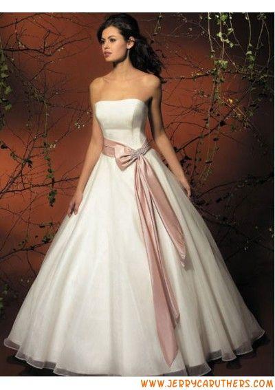 rimless simpel A-Lijn /prinses Rok met sierlijk sjerp met Kapel Trein strand trouwjurk