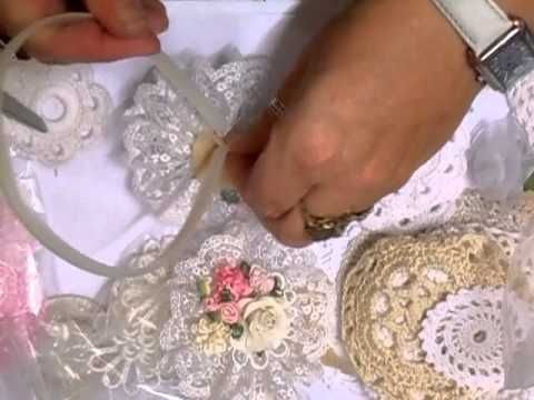 Summer Fair Shabby Chic Flower Tutorial - jennings644 - YouTube