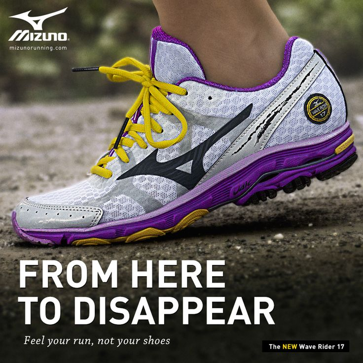 Mizuno Wave Rider 17 Running shoes. I can't wait to try the new version of my shoes! But maybe in the gray color...