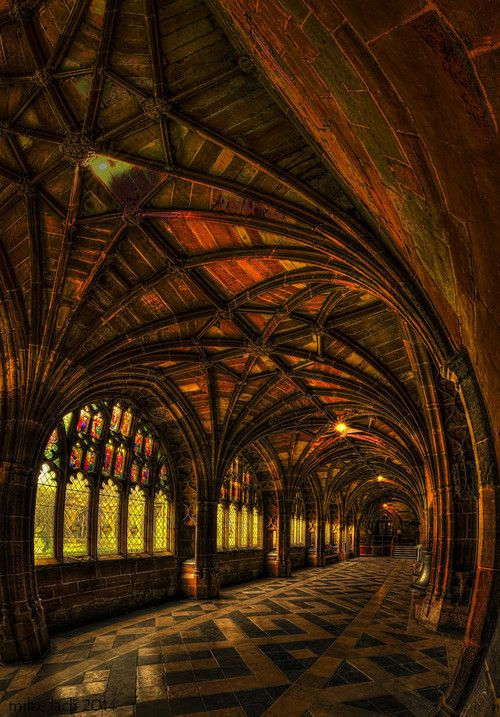 Cloister In The Morning Sun by henclova38