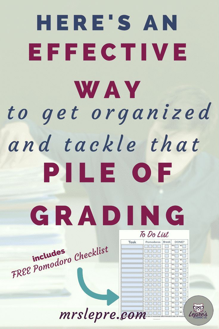 Here's a Quick Way to get organized and tackle that pile of grading   teaching   teacher   first year teacher   grade faster   grading tips