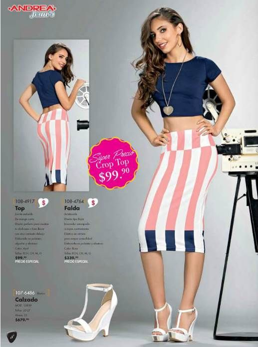 Outfit para otoño. Falda hasta la rodilla + blusa corta. Combina o no?