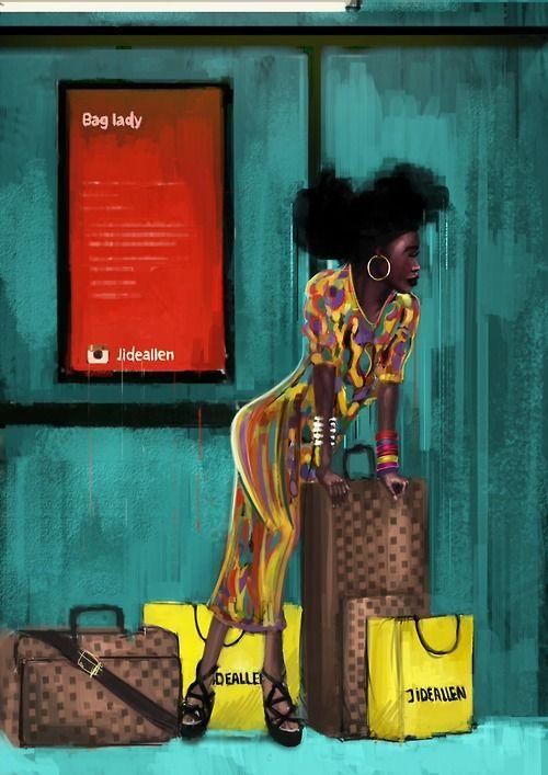 Scene inspired by Erykah Badu's bag lady song.