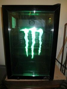 Monster Energy Drink G2 Led Fridge Led Lights Excellent
