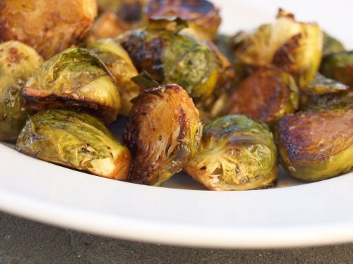 Roasted Brussels Sprouts (omit honey for low carb version)
