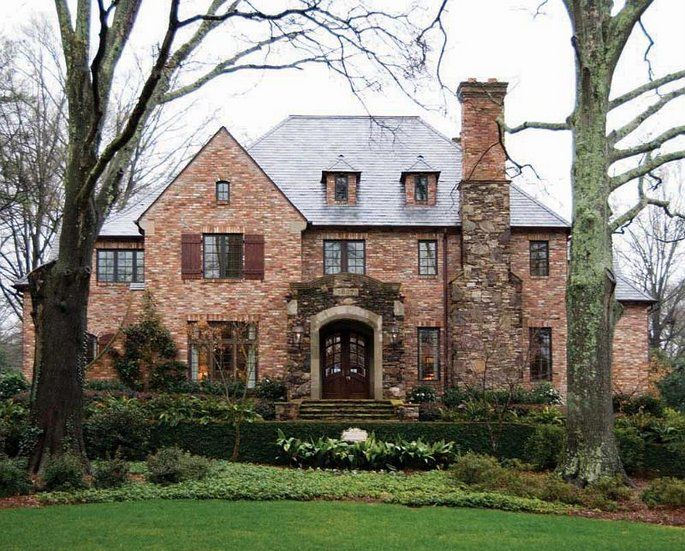 brick home designs. Brick Home With Stone Brick Chimney 103 Best Welcome Home Images On Pinterest  House Beautiful