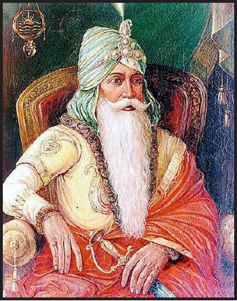 Maharaja Ranjit Singh.British called him lion of Punjab(1789-1840CE).defeated Afghans to recapture the entire Punjab,Kashmir,Ladakh,Western Tibet.Golden period of Sikh rule.After his death,The kingdom fell to the conspiracies of Hindu courtiers and the British.Anglo-Sikh Wars lasted for five year(1840-45)