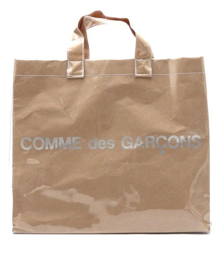 Comme des Garcons COMME des GARCONS PAPER/ PLASTIC TOTE BAG (last drop) Size ONE SIZE