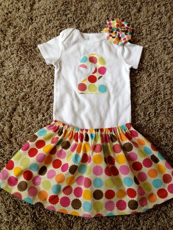 Baby girl 2nd Birthday outfit colorful by ellamacy on Etsy, $29.99