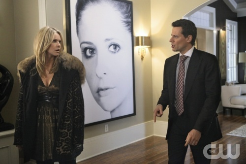 """""""What Are You Doing Here, Ho-Bag?"""" -  Andrea Roth as Catherine Martin and Ioan Gruffudd as Andrew Martin on Ringer on The CW. Photo: Patrick Wymore/The CW ©2011 The CW Network. All Rights Reserved."""