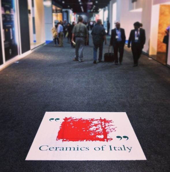 Welcome to the Italian Pavilion! #Coverings 2013