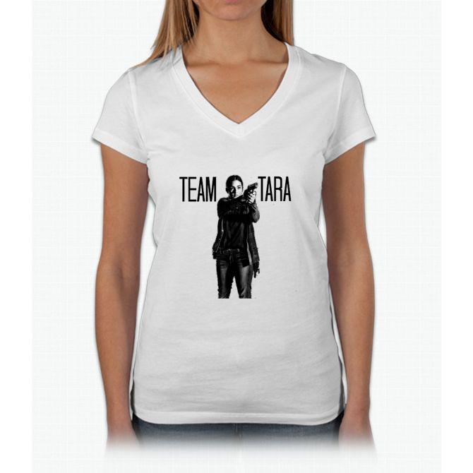 Team Tara- The Walking Dead Womens V-Neck T-Shirt