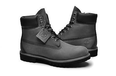 Timberland Men's Boot 6 Inch Premium 6609A Grey Black suede