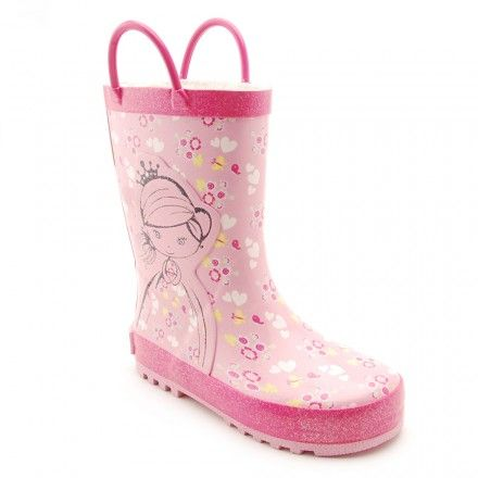 Princess Amelia, Rose Pink Girls Water Resistant Wellies - Girls Boots - Girls Shoes http://www.startriteshoes.com/girls-shoes/boots/princess-amelia-rose-pink-water-resistant-wellies