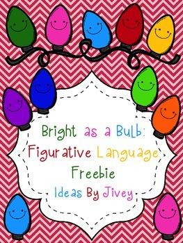 Students sort holiday-themed sentences written on bulbs onto their matching wires by their type of figurative language: similes, personification, and onomatopoeia.Feedback and ratings are much appreciated!Be sure to follow my blog for more ideas and freebies as well!