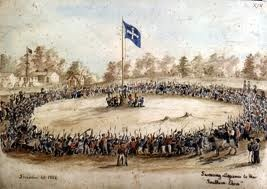 The Eureka Flag was first unfurled in 1854. The Eureka Flag remains an iconic symbol of Australian freedom and independence.