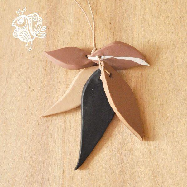 Handmade Polymer Clay Gum Leaf Necklace - Maidenhair Fern by ThatWeDo on Etsy (null)