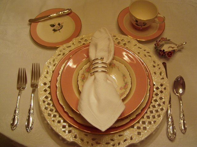 Pretty in Pink Table Setting